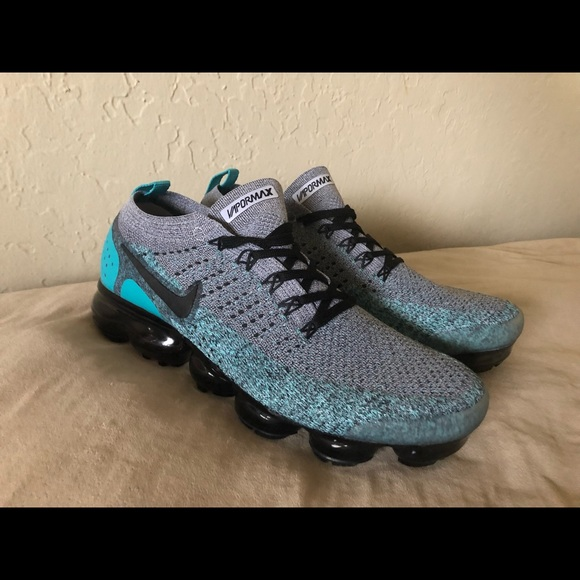 new concept f71e6 98b98 Nike Vapormax Flyknit 2 Dusty Cactus Men's Shoes NWT
